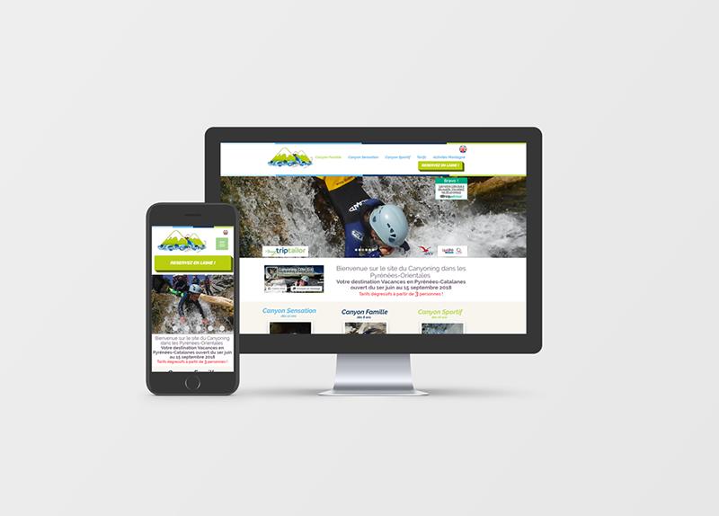 Création Site Internet Canyoning Côté Sud
